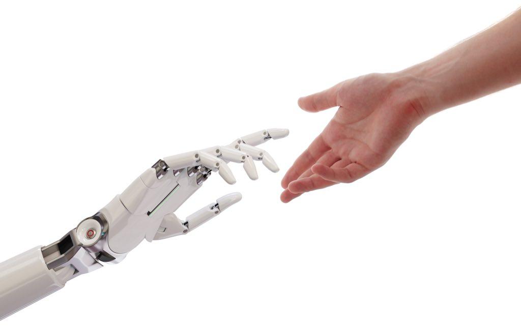 Arms human and robot
